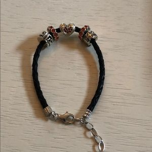 Chamilia bracelet w/charm, 2 spacers and 2 locks